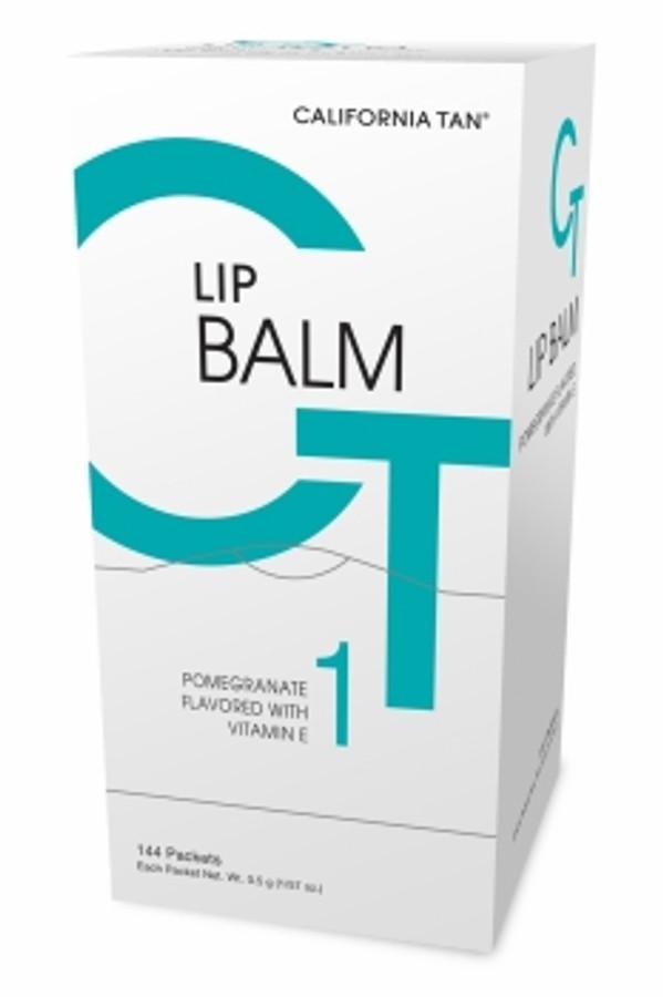 California Tan Disposable Lip Balm Display, 144 Packets