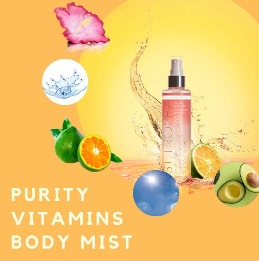 St. Tropez Self Tan Purity Vitamins Bronzing Water Body Mist, 6.7 oz
