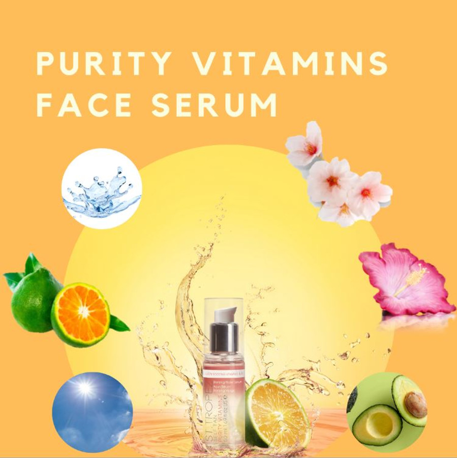 St. Tropez Self Tan Purity Vitamins Bronzing Water Face Serum, 1.69 oz