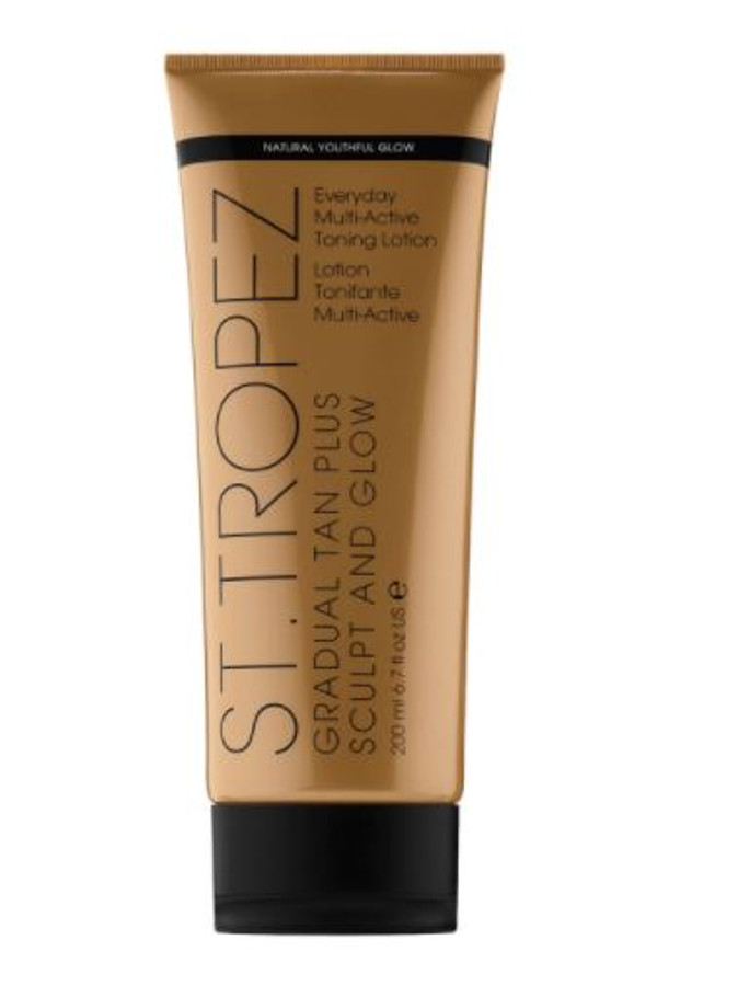St. Tropez Gradual Tan Plus Sculpt & Glow Everyday Multi-Active Tanning Lotion, 6.7 oz