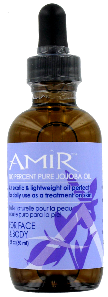 Amir Pure Jojoba Oil for Face and Body, 2 oz