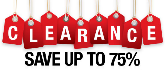 clearance save up to 75%