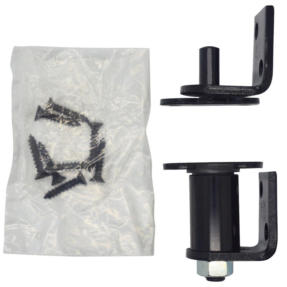 Gravity Hardware /Hinge Saloon Door Bright Black