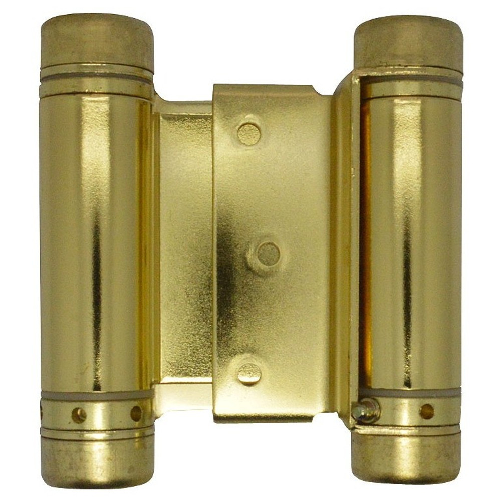 "3"" Polished Brass Spring Hinges Commercial Grade"