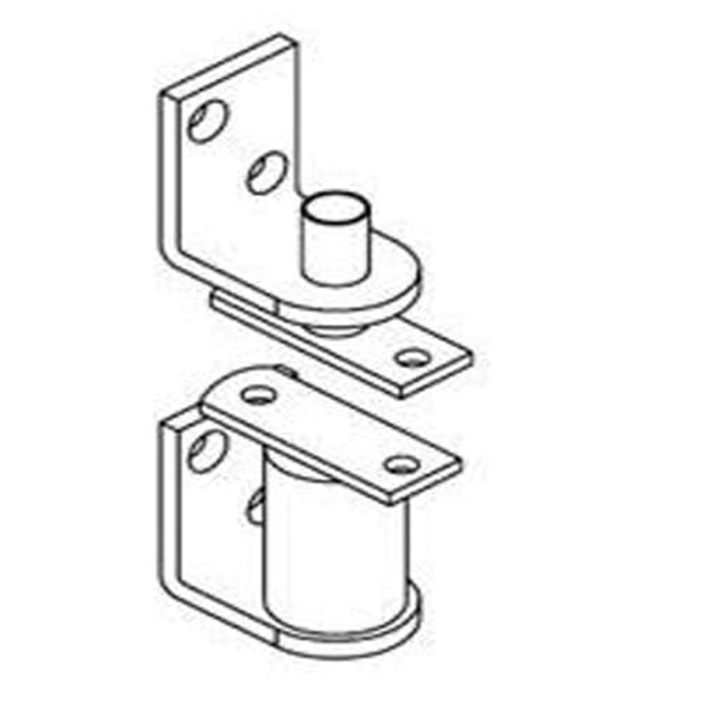 Gravity Commercial Grade Hinge/Hardware for Cafe Doors (Shown in Primed for Painting Finish)