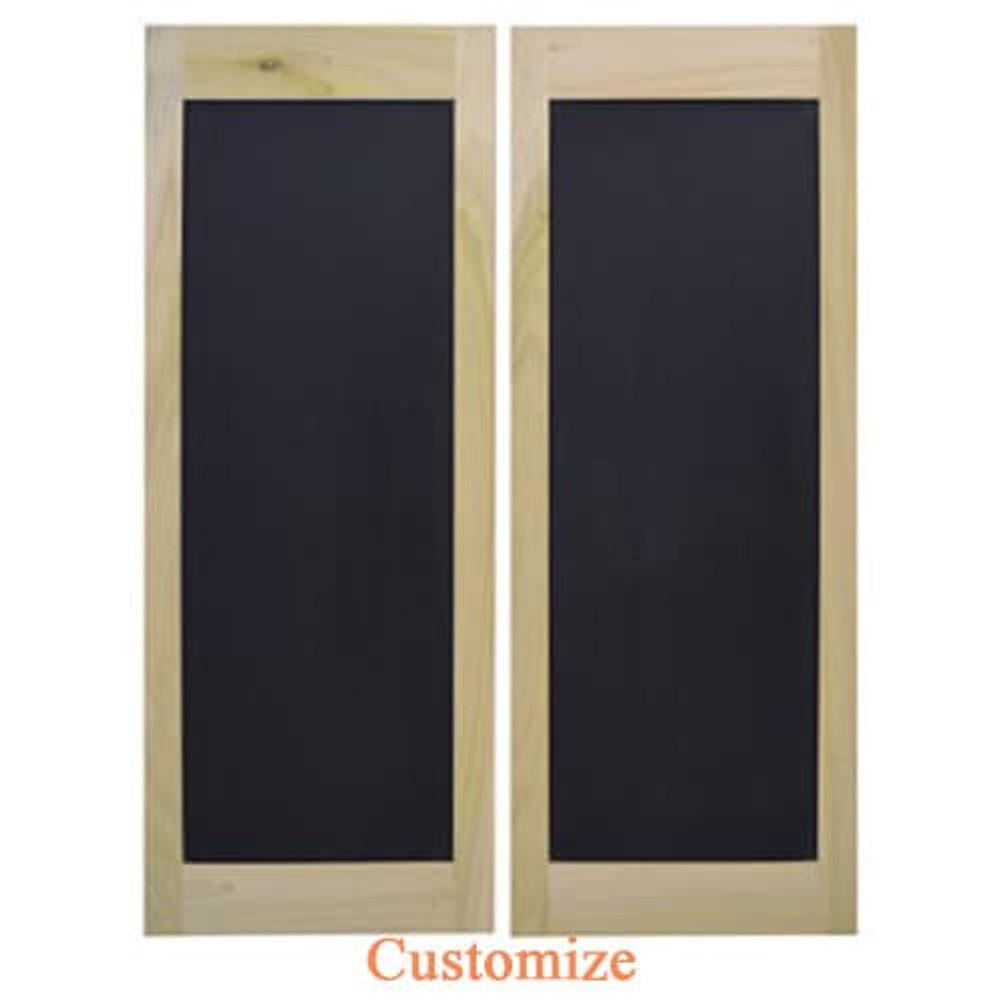 Chalkboard Saloon Doors | Swinging Cafe Doors | Coffee Shop Doors