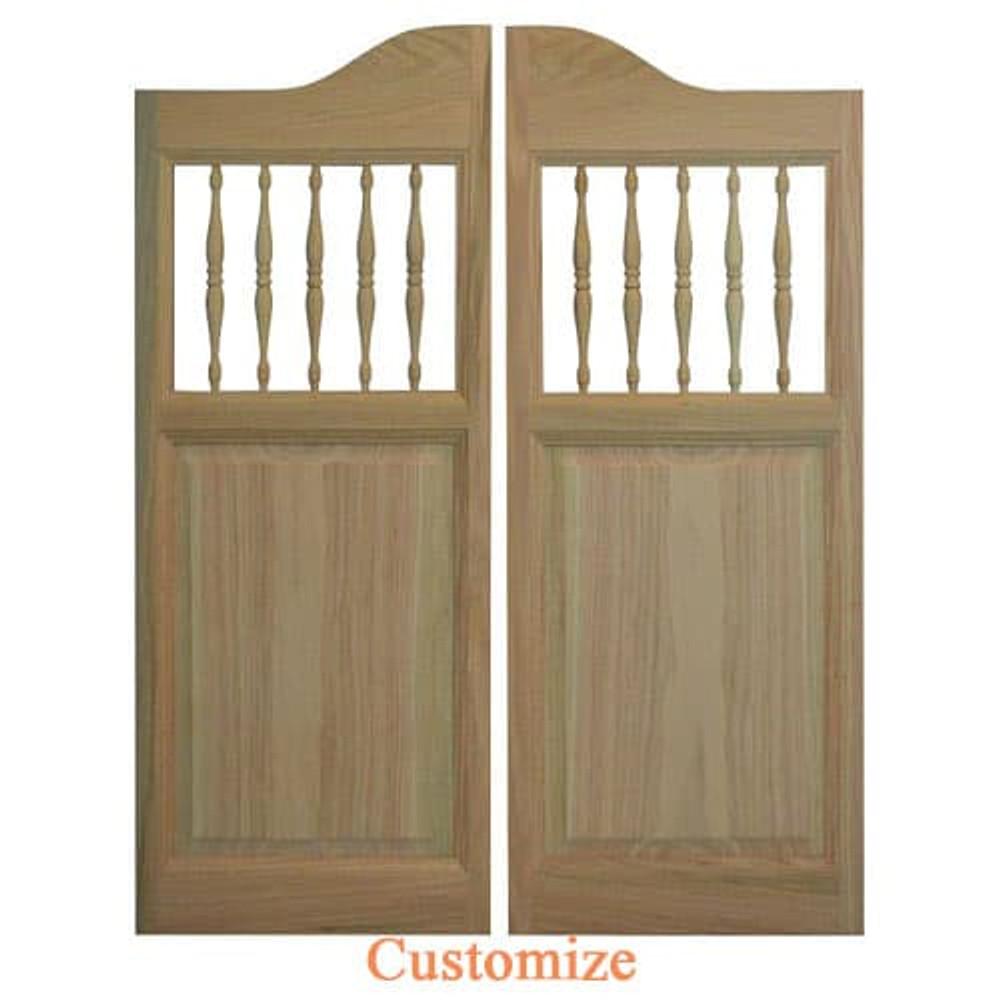 Western Spindles Saloon Doors | Swinging Cafe Doors
