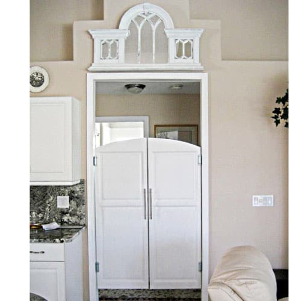 White Archway Saloon Doors Installed