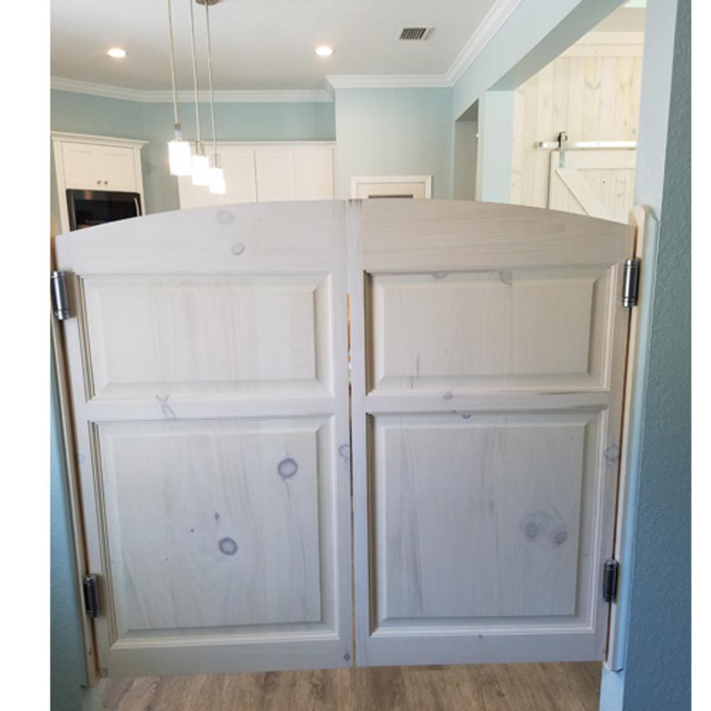 Pine Archway Installed Doors -Swinging Kitchen Doors