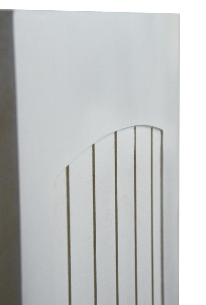 Side View of Custom Craftsman Beadboard Saloon Doors