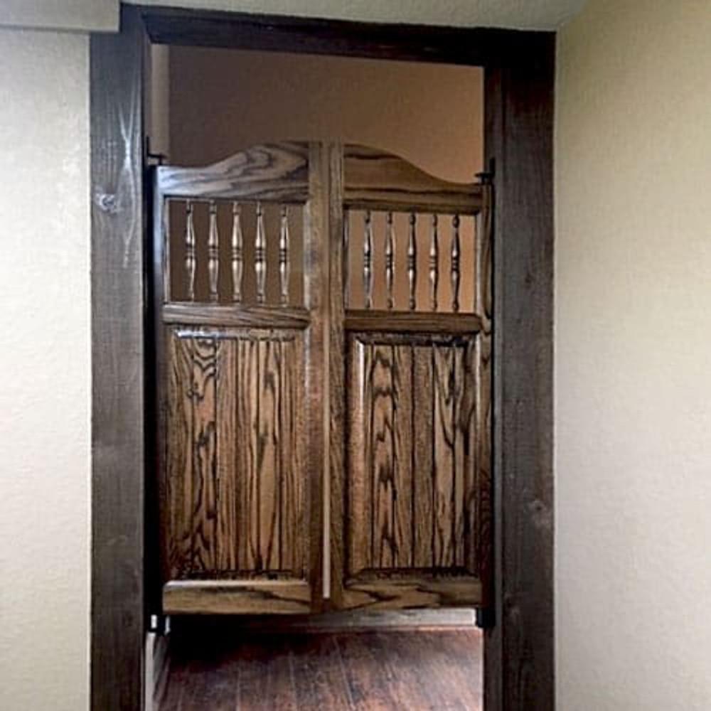 Finished Oak Western Craftsman Doors Installed