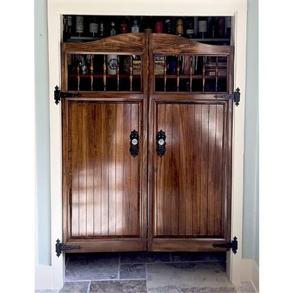 Pantry Craftsman Western Saloon Doors Installed