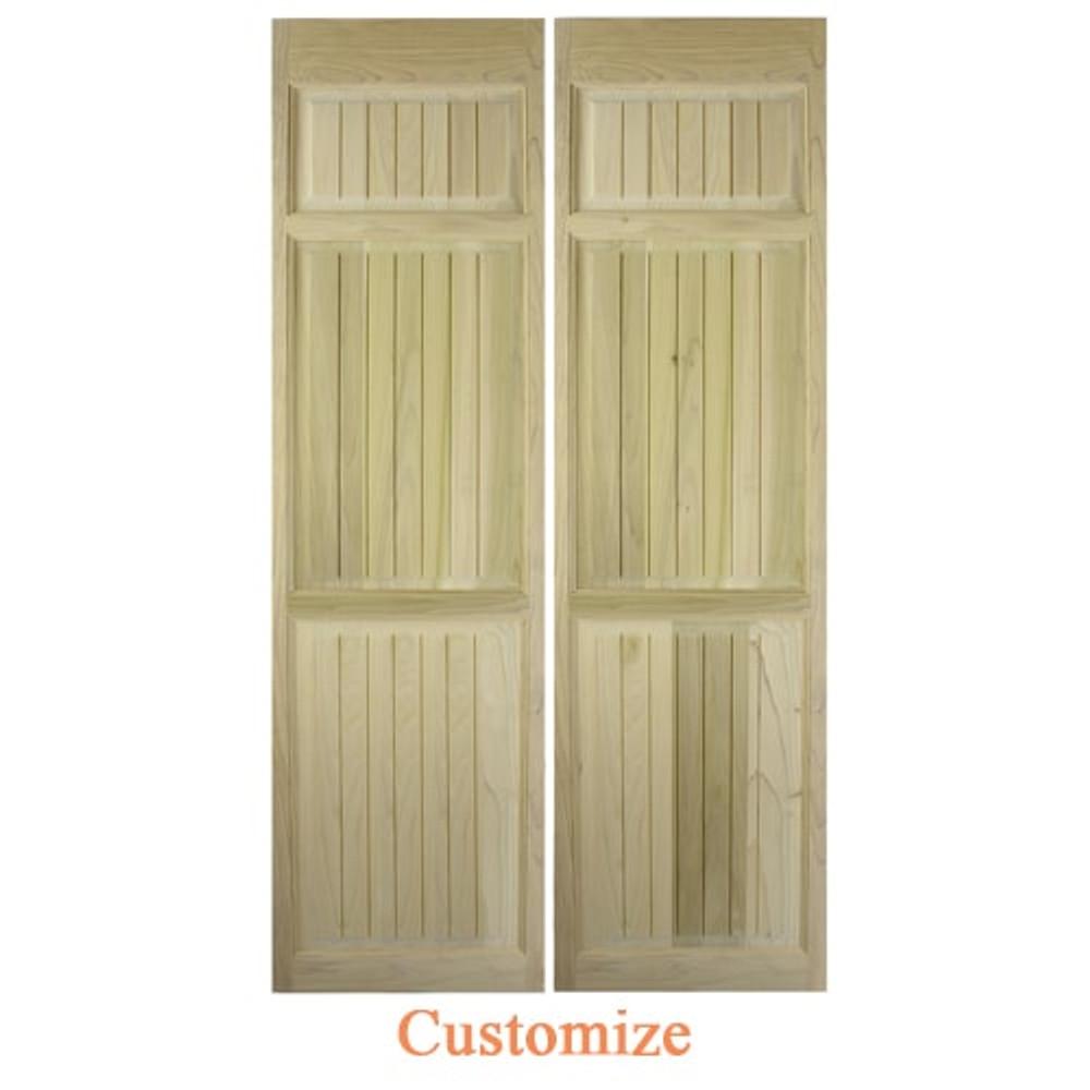 Craftsman Full Length Swinging Cafe Doors   Interior Doors