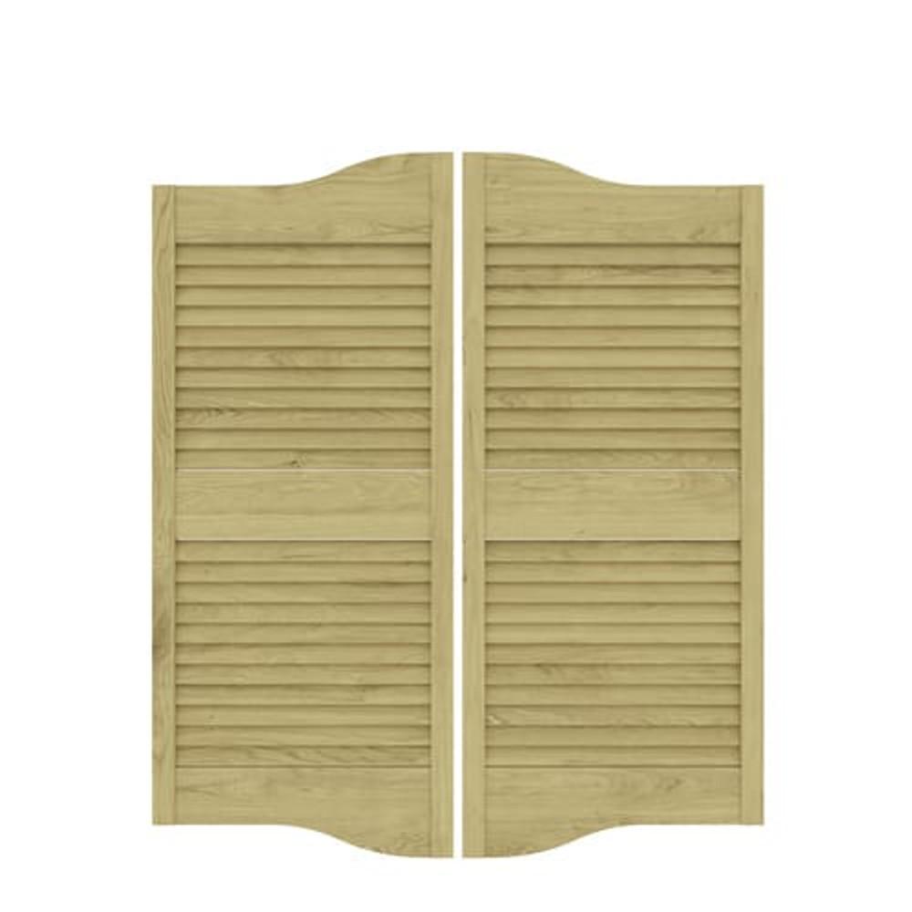 Custom cottage Louvered Saloon Doors- Poplar wood