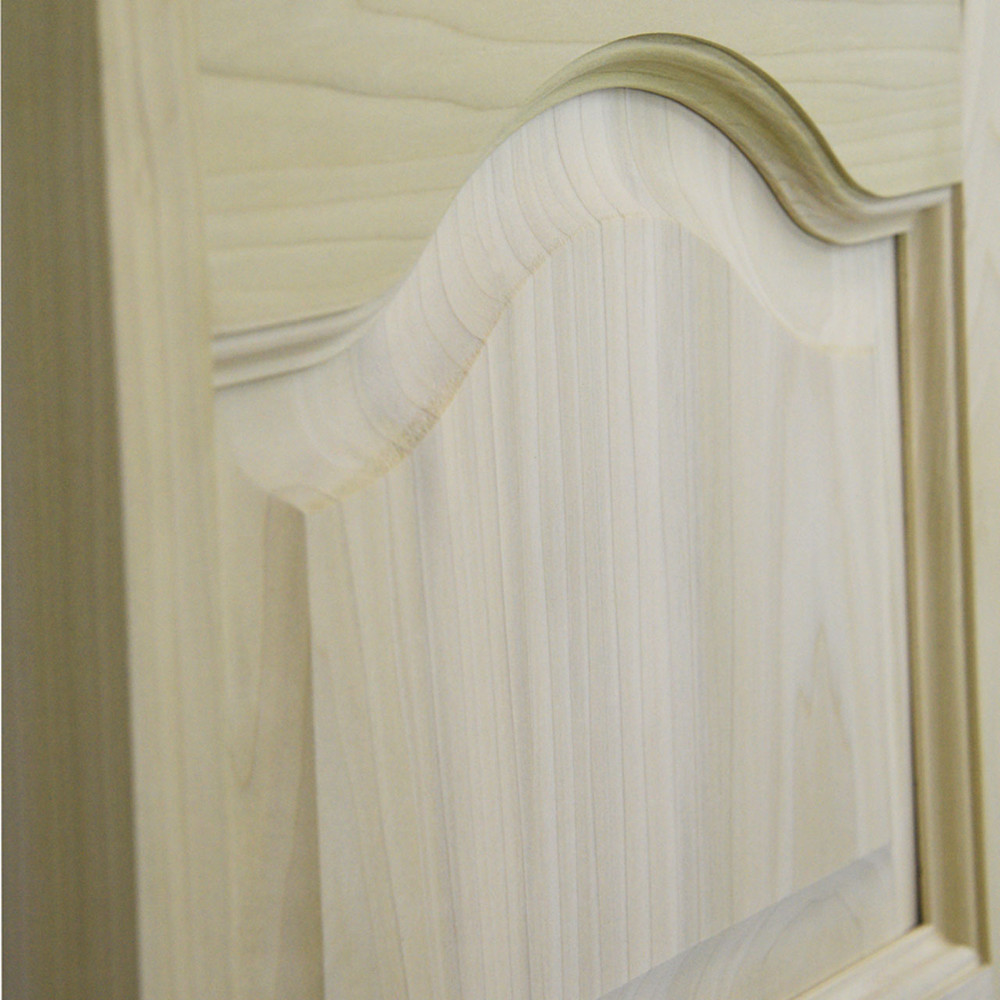Side View of Cathedral Arch Solid Wood Saloon Doors | Swinging Cafe Doors  (Poplar Material)