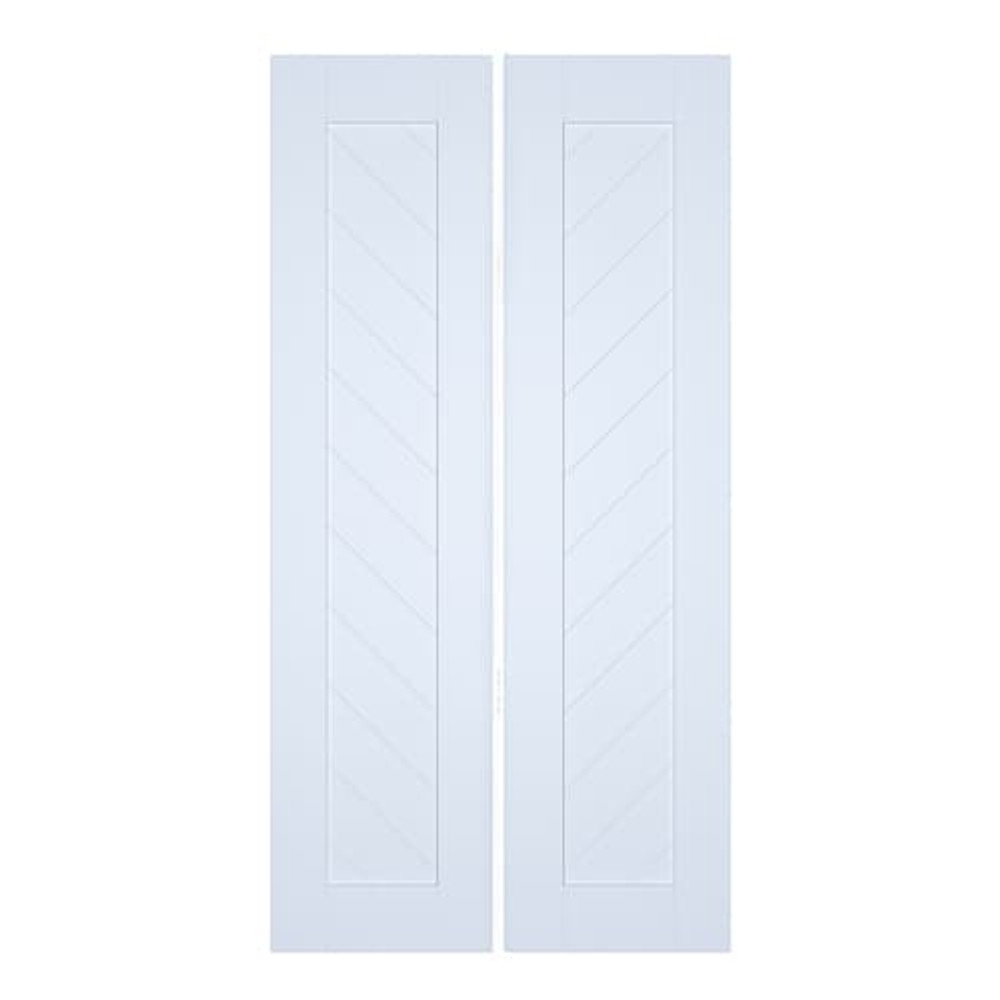 Modern Contemporary Chevron Slat Double Swinging Doors