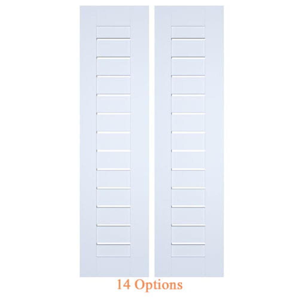 Modern Contemporary Double Swinging Interior Slat Doors