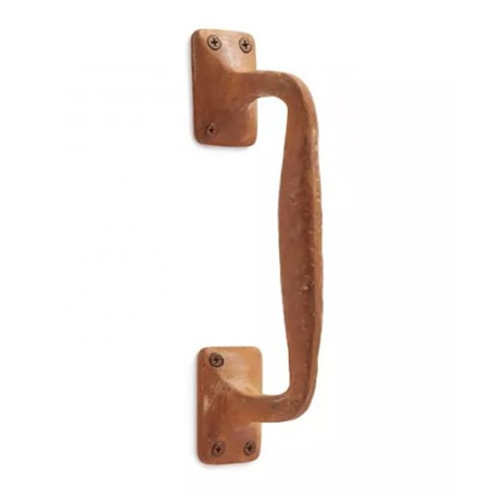Rounded Iron Door Pull- Rust