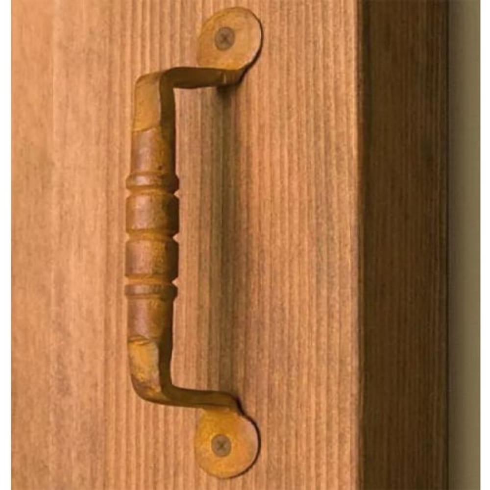 Ridge Iron Door Pull- Rust