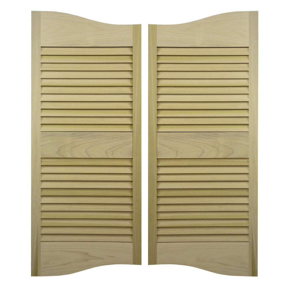 Double Arch Louvered Cafe Doors | Western Doors