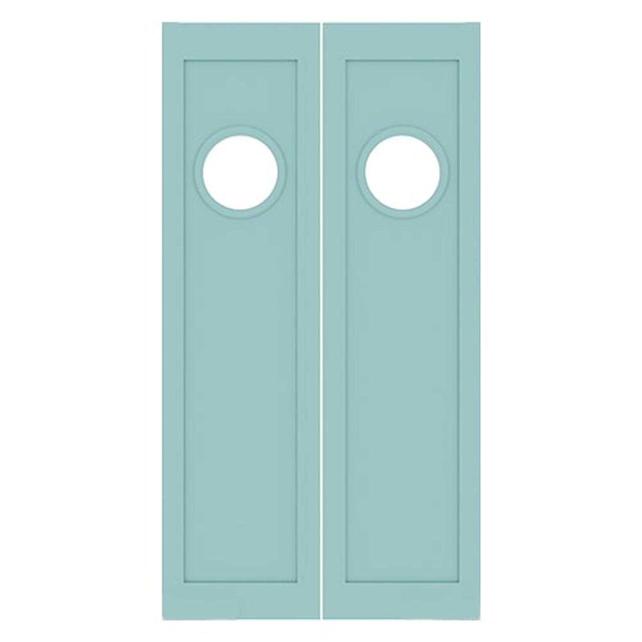 Maritime Double Swinging Nautical Porthole Doors   Half Doors