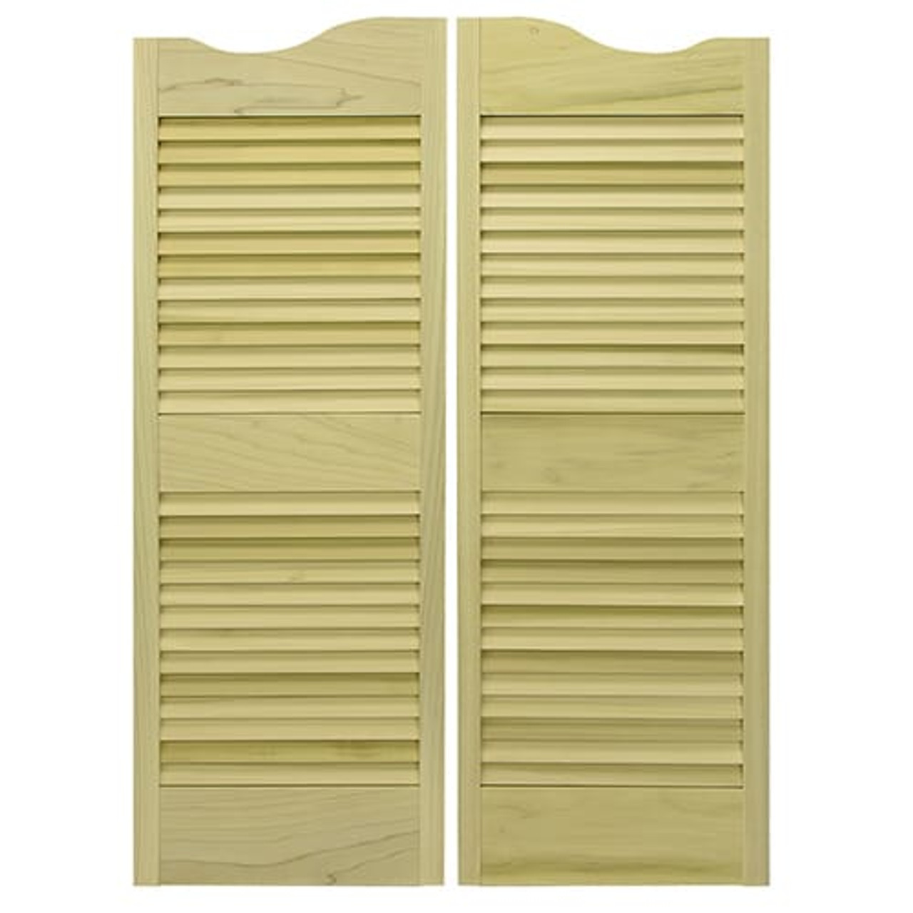 Scalloped Top Western Louvered Saloon Doors
