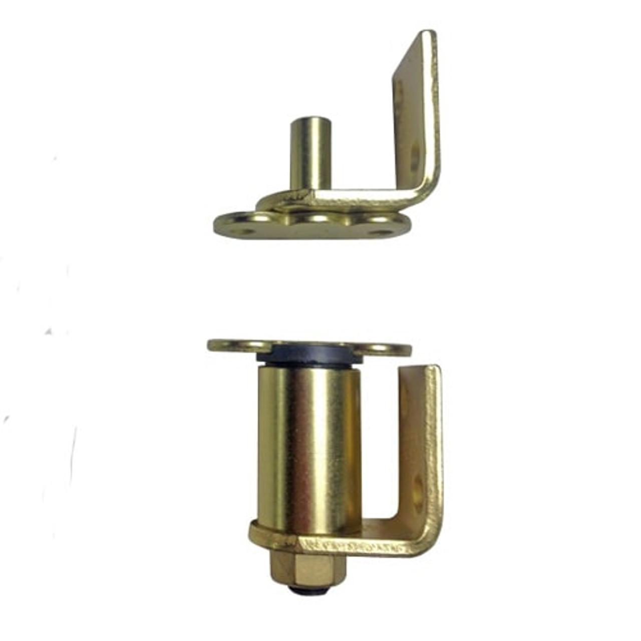 Gravity Commercial Grade Hinge /Hardware for Cafe Doors (S. Brass)