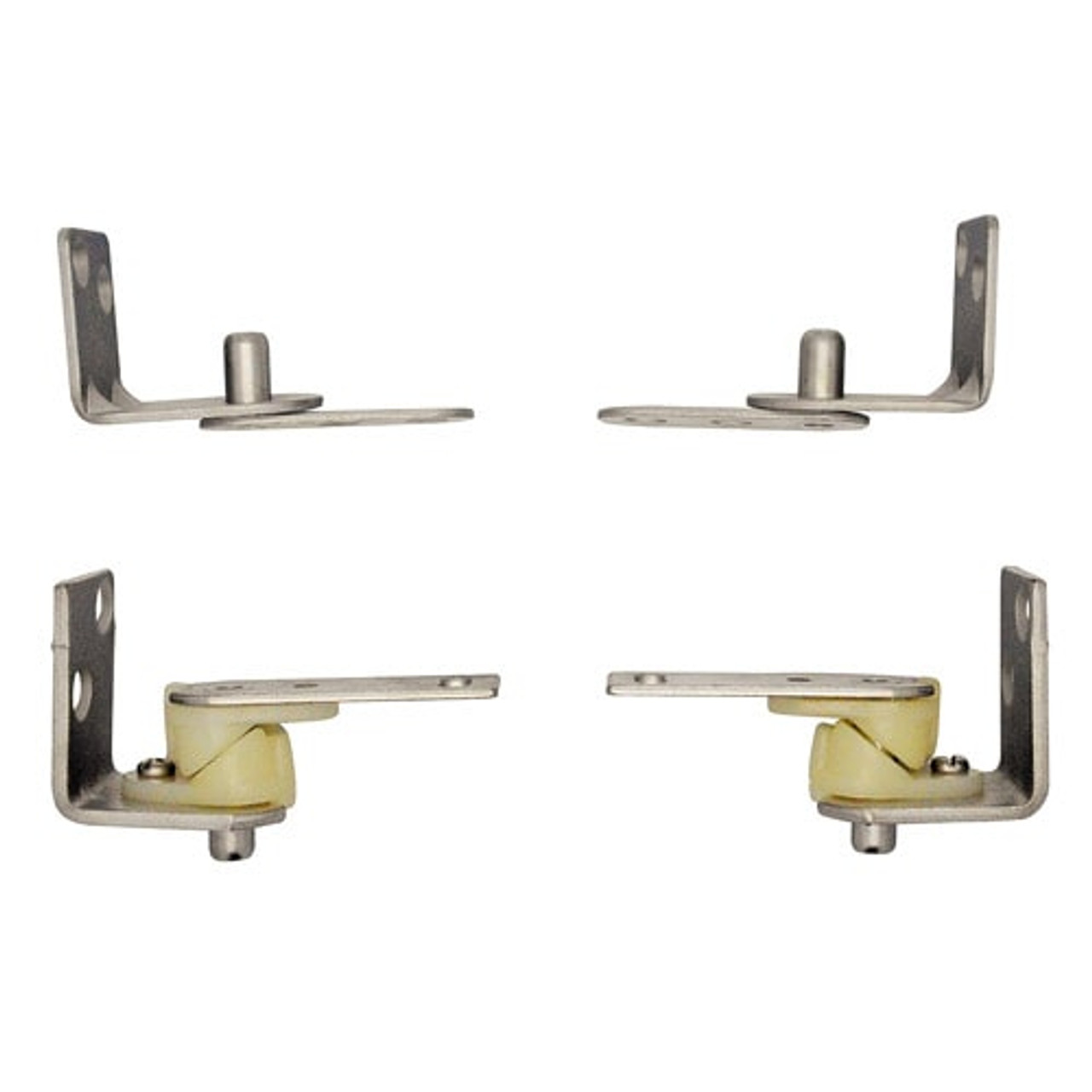 Satin Chrome Saloon Door Hinges | Cafe Door Hinges
