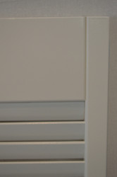 "White Louvered Saloon Doors 32"" Door Opening- Corner Angle"