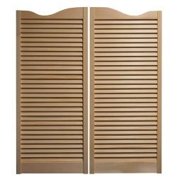 Louvered Door | Cafe/Saloon Doors (30 in Door Openings)