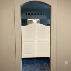 Arched Top Farmhouse- Master Bathroom Doors