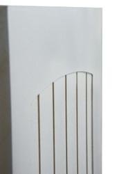 Side View of Craftsman Beadboard Cafe Doors