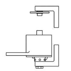 "Bommer Brass Surface Adjustable Spring Pivot Hinge | Saloon Doors/ Swinging Cafe Doors - 36"" Wide Door"