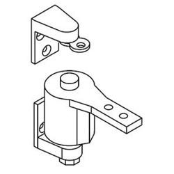 "Bommer 7412 Gravity Brass Surface Pivot Hinge  Swinging Cafe Doors / Saloon Doors 30"" Doors"