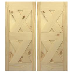 Framed Double X Interior Barn Style Doors