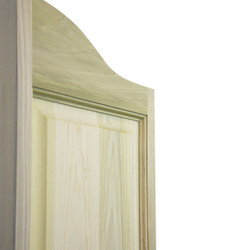 Side View of Raised Panels Saloon Cafe Doors | Western Doors with Arch top