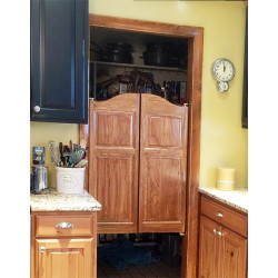 Finished Oak Arch Top Doors  | Swinging Cafe Doors