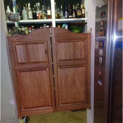 Pantry doors installed