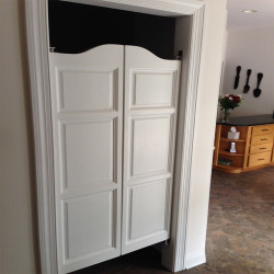 "60"" tall Finished Arch Top Raised Panel Saloon Doors"