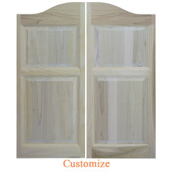 Arch Top Raised Panel Saloon Doors | Swinging Cafe Doors