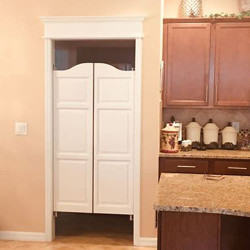 Painted Kitchen Swing Doors