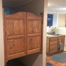 Pine Finished Cafe Doors- Customer Finished