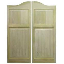 Craftsman Beadboard Arch Top Saloon Doors