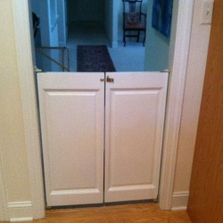 Ranch Saloon Doors Installed as Baby | Pet Gate