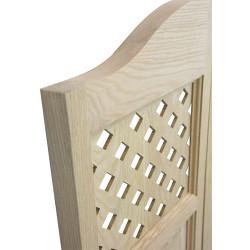 Side View Profile of Lattice Doors   Kitchen Cafe Doors
