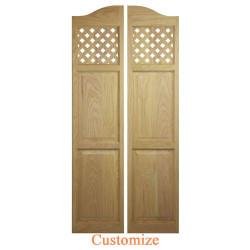 Custom Full Length Lattice Café Doors | Swinging Café Doors