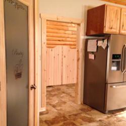 Kitchen Doors- Installed Pine Rustic Santa Fe Doors