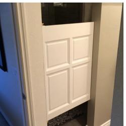 Custom Single Colonial Raised Panel Wooden Cafe Door | Swinging Cafe Doors