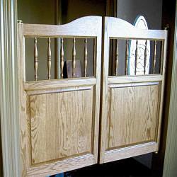 Western Spindles Saloon Doors Installed