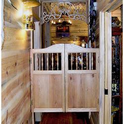 Western Spindles Saloon Doors Installed in Western Home